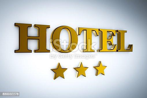 istock hotel with stars 830032278