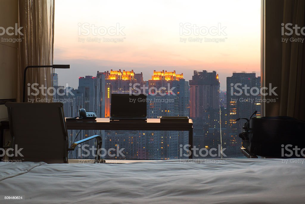 Hotelroom stock photo