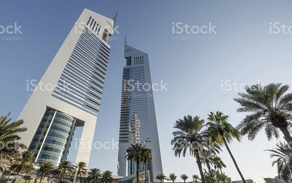 Hotels and business park stock photo