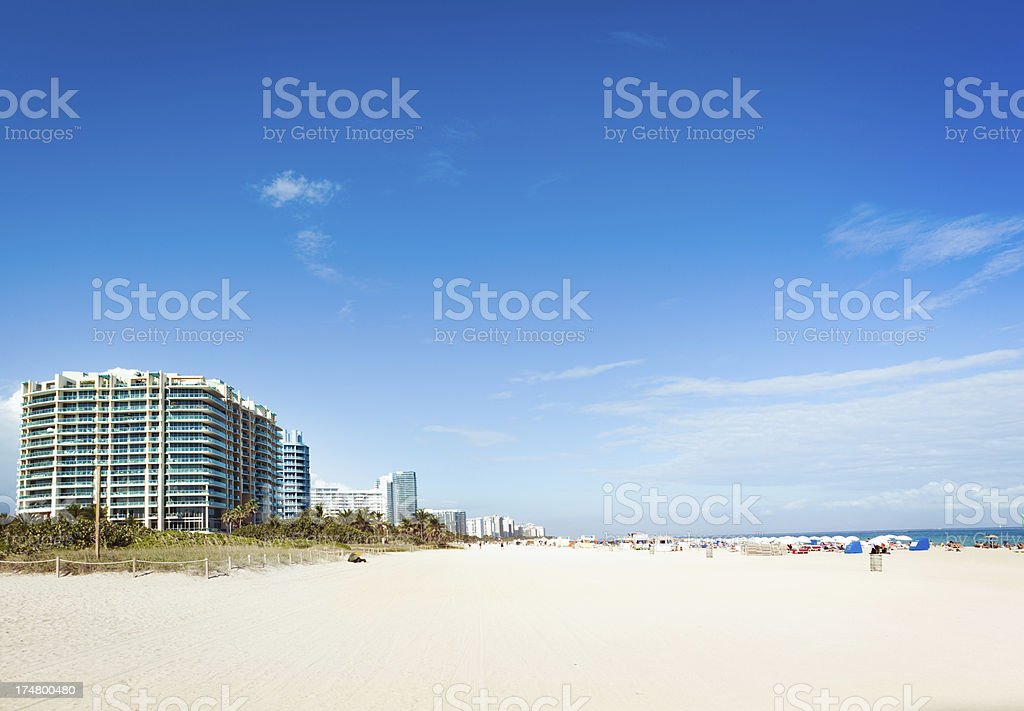 Hotels and Entertainments Along South Beach Florida, Miami, USA royalty-free stock photo