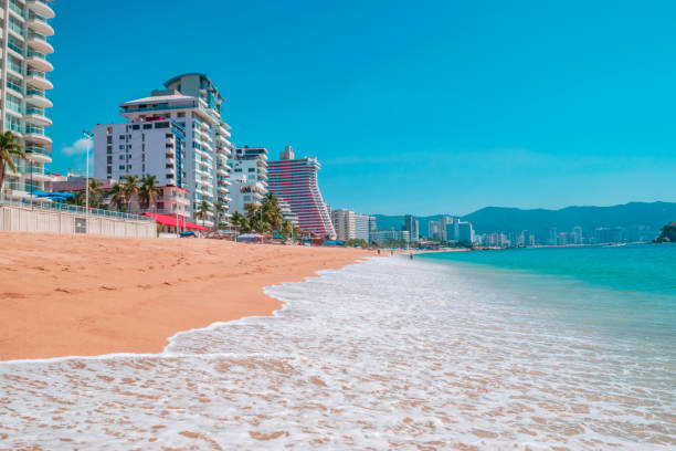 Hotels in the beach of Acapulco stock photo