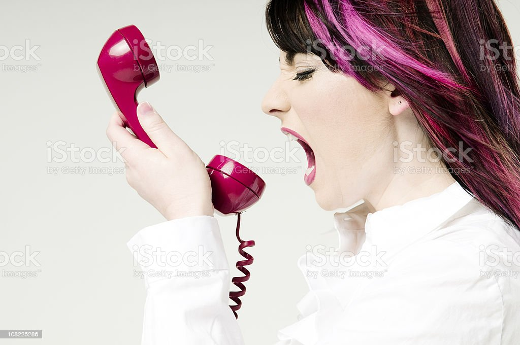 hothead on a call stock photo
