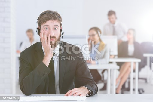istock Hotline agent at work 837432324