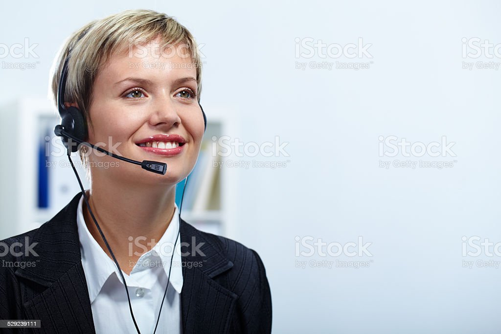 Hotline stock photo