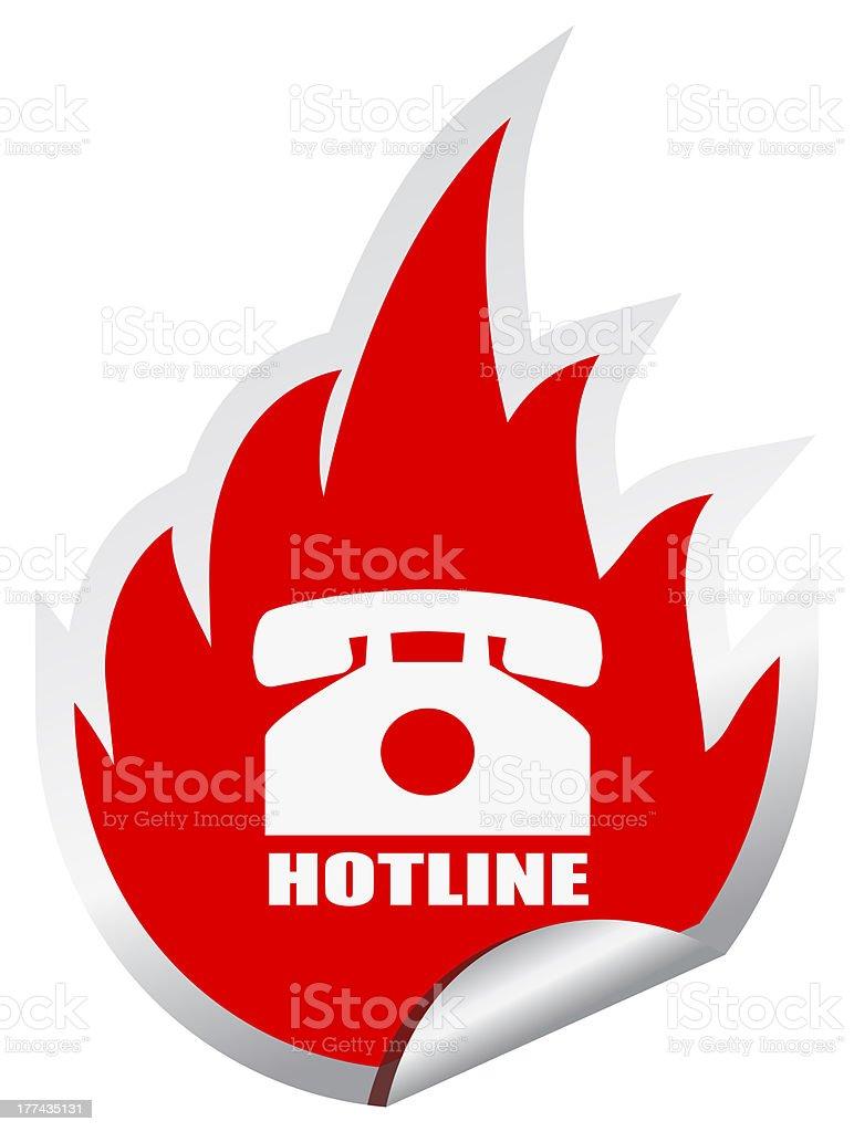 Hotline symbol stock photo
