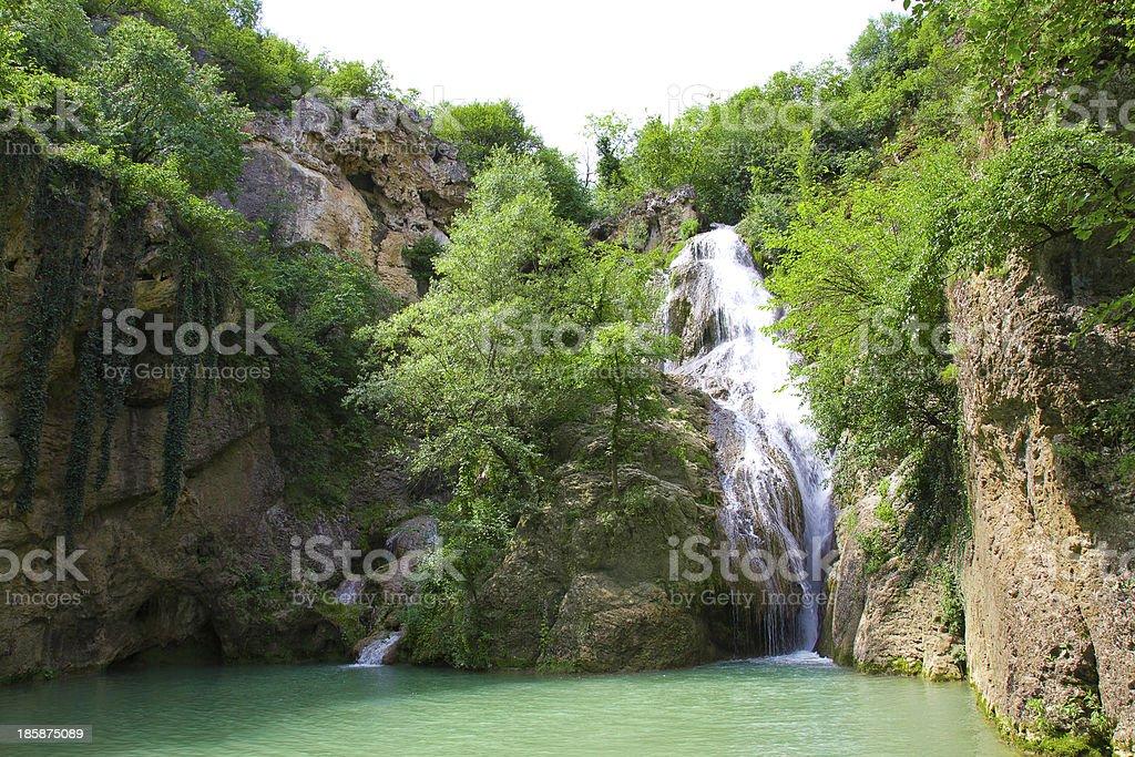 Hotnica waterfall 7 royalty-free stock photo