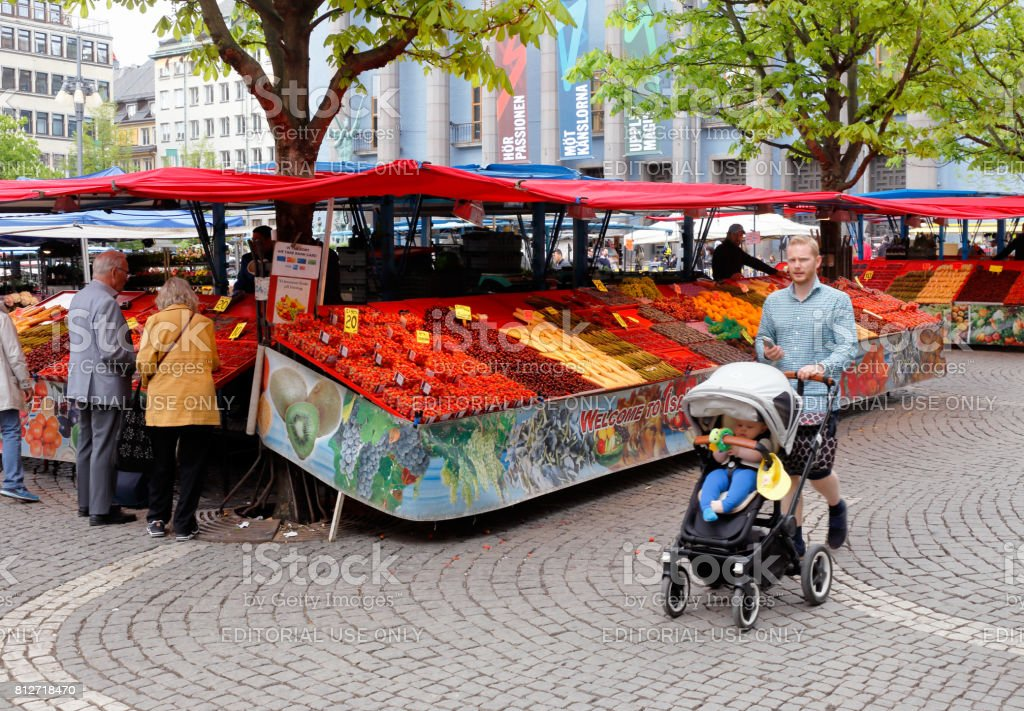 Hotorget market square stock photo
