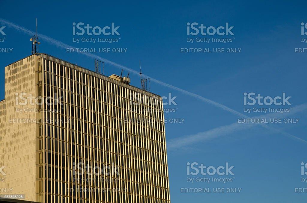 Hotorgsskrapan i Stockholm, Sweden stock photo
