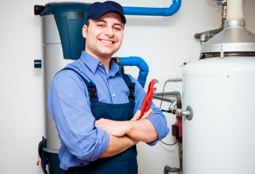 Hotwater Heater Service Stock Photo - Download Image Now