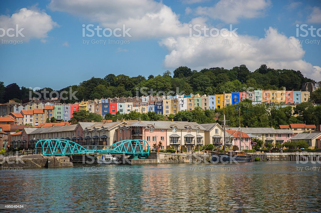 Hotwells from Spike Island stock photo