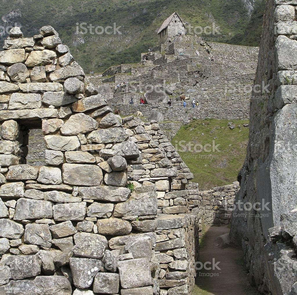 Houes au Machu Picchu photo libre de droits
