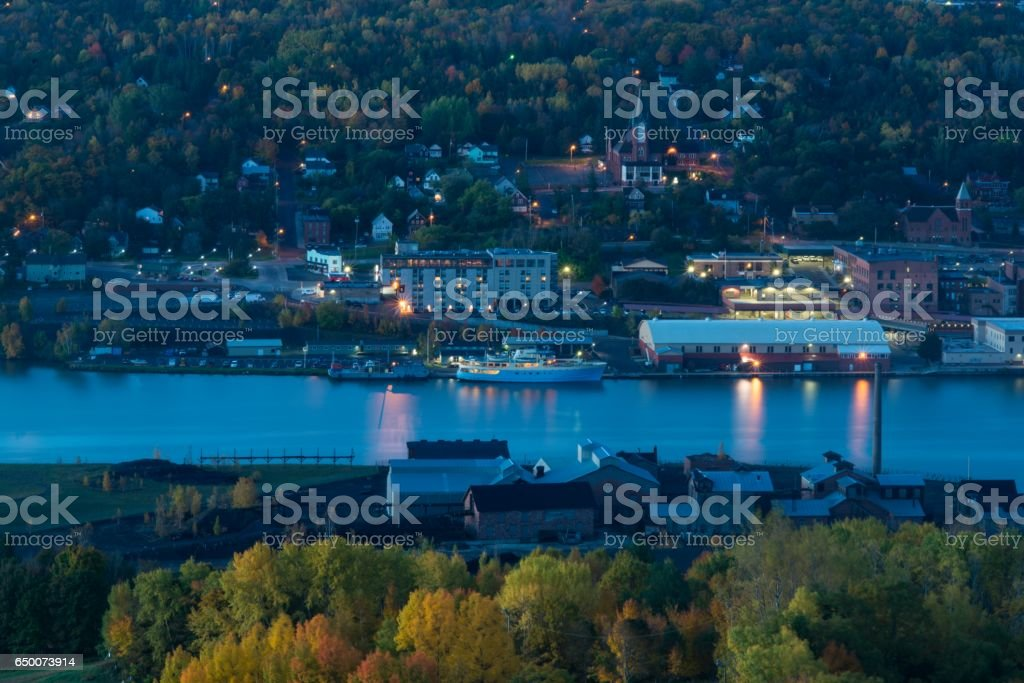 Houghton, Michigan stock photo