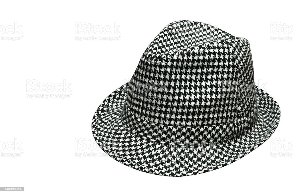 Houndstooth Hat Isolated stock photo