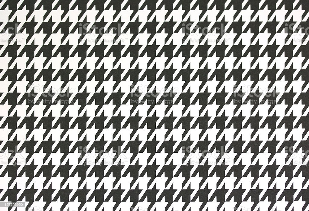 Houndstooth Printed Paper stock photo