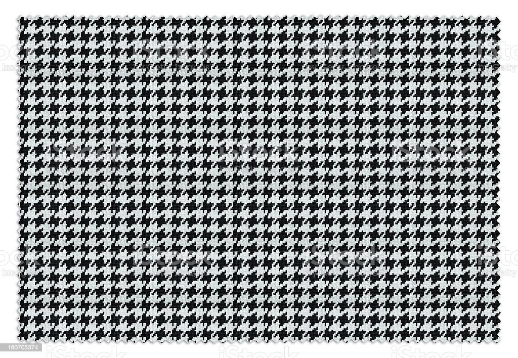 BW Houndstooth Swatch stock photo