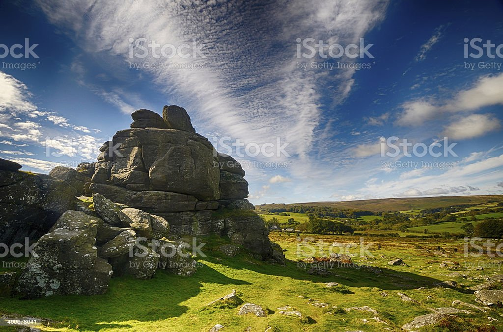 Houndtor with Cirrus Clouds stock photo