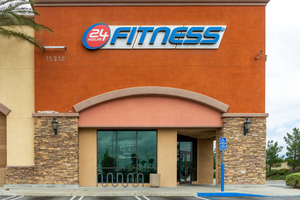 24 Hour Fitness is temporarily closed during the COVID-19 crisis stock photo