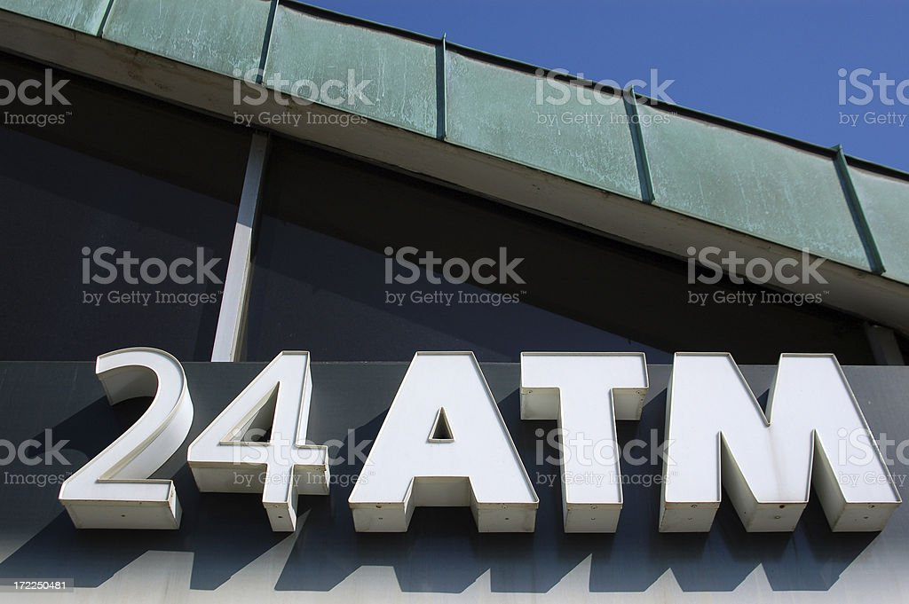 ATM 24 hour royalty-free stock photo
