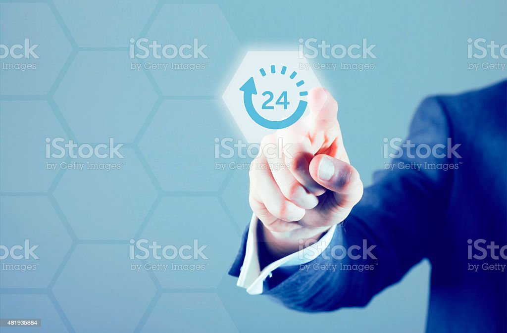 24 hour service stock photo