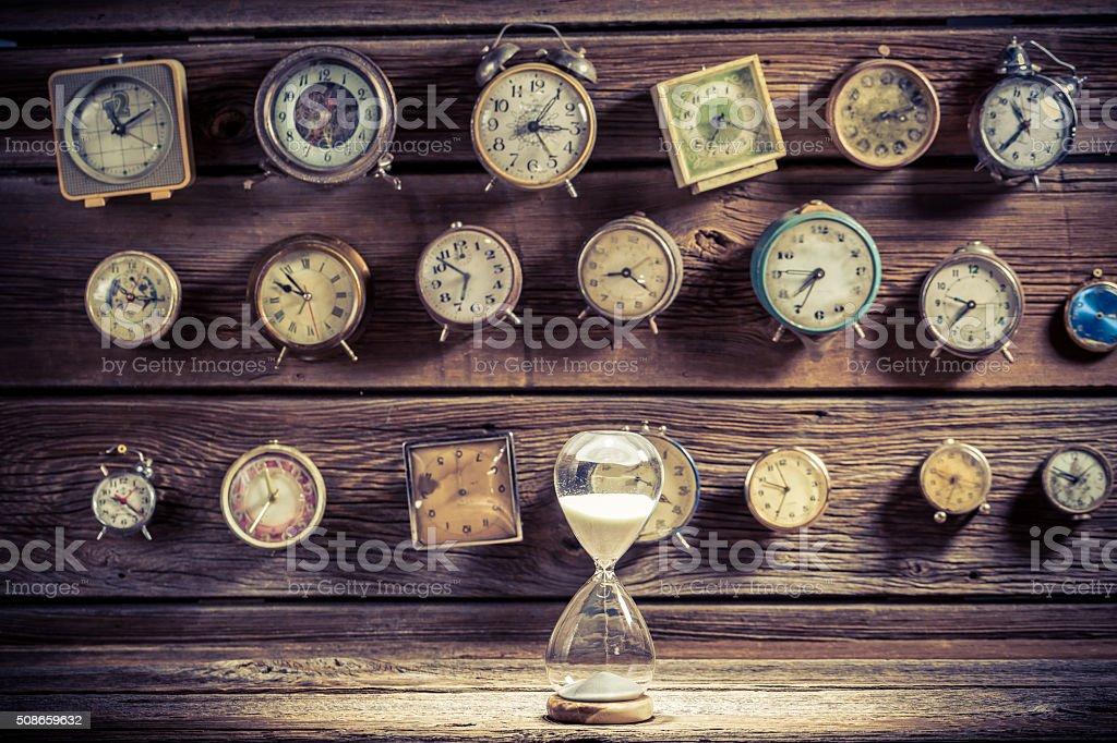 Das Sanduhr wie die alte Art der Zeitmessung – Foto