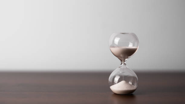Hourglass as time concept stock photo