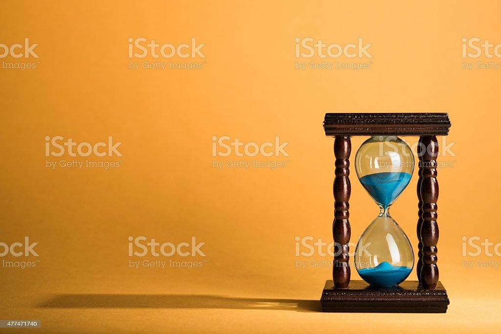 Hourglass clock stock photo