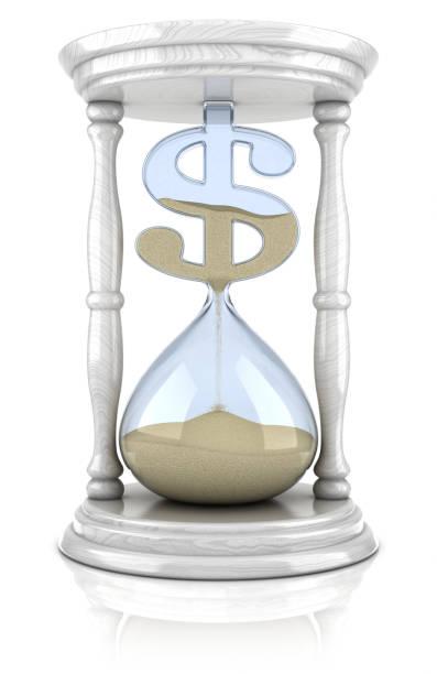 Das Sanduhr-dollar-Verlust-Konzept – Foto