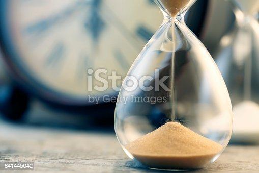 istock Hourglass flow 841445042