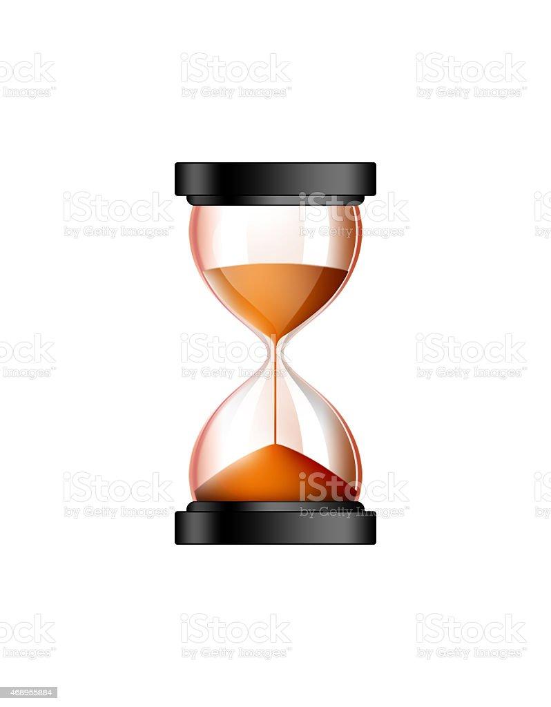 hourglass illustration stock photo