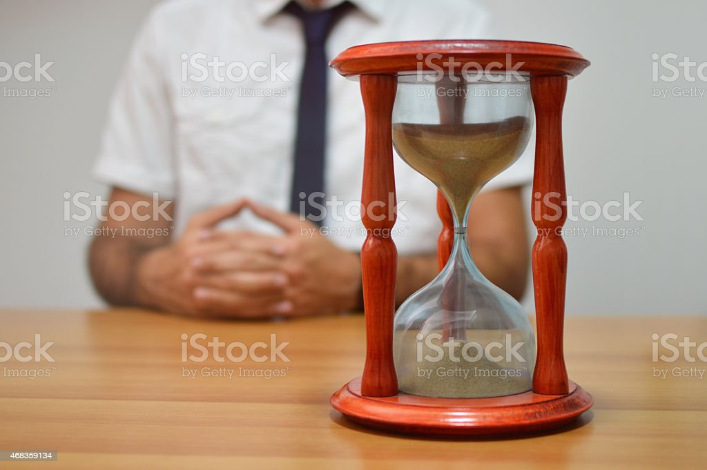 Hourglass in a doctors office royalty-free stock photo