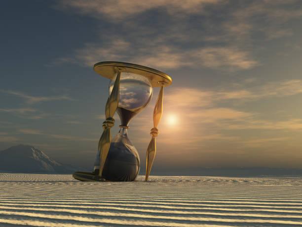 Sanduhr in der Wüste – Foto