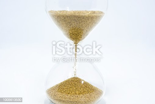 istock Hourglass isolated on white background 1005613530