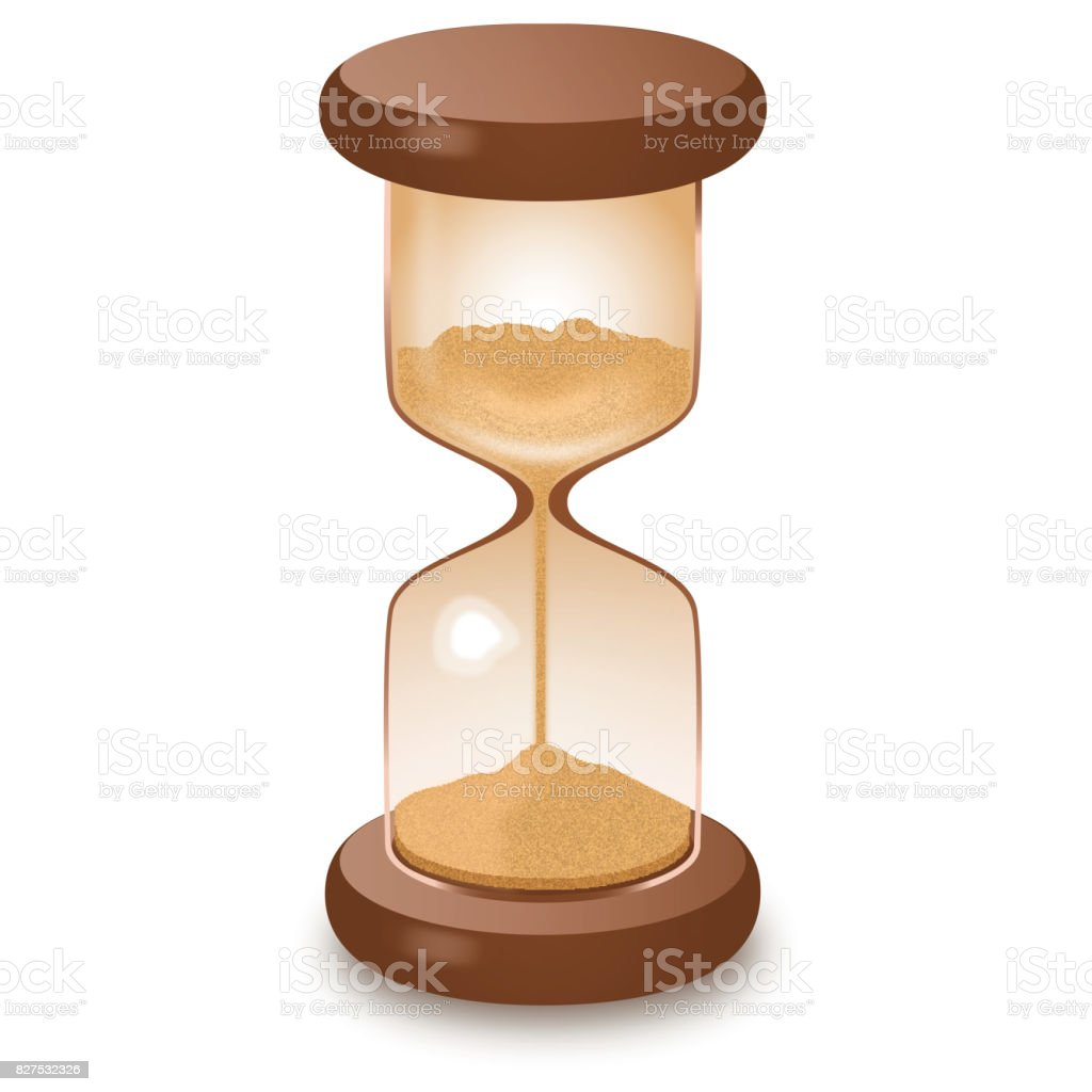 Hourglass isolated on white vector illustration royalty-free stock photo