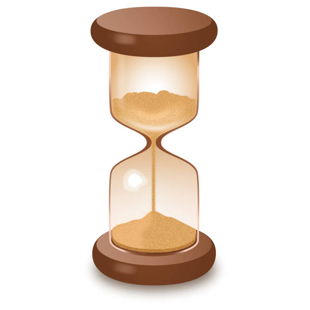 Hourglass isolated on white vector illustration stock photo