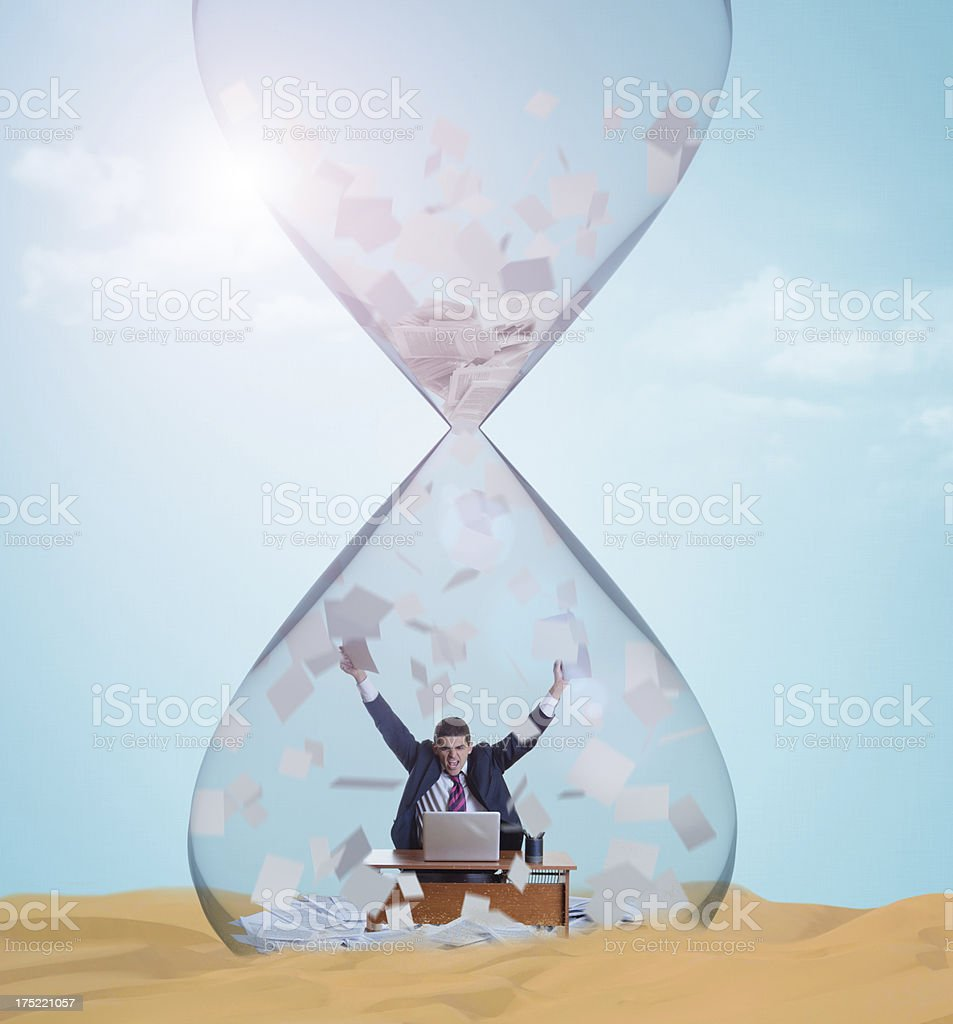 Hourglass Office royalty-free stock photo
