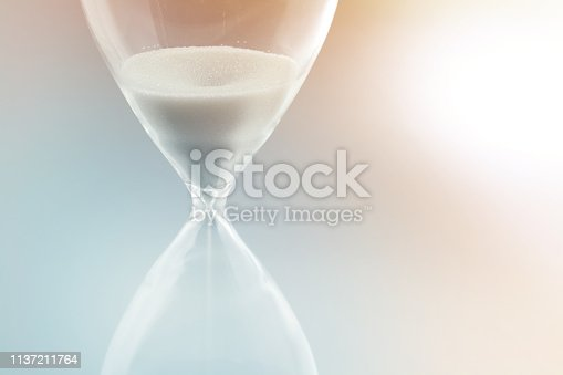 Close-up of a hourglass.