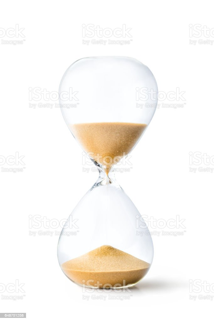 Hourglass stock photo