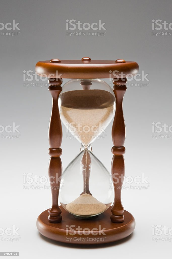 Hourglass royalty-free stock photo