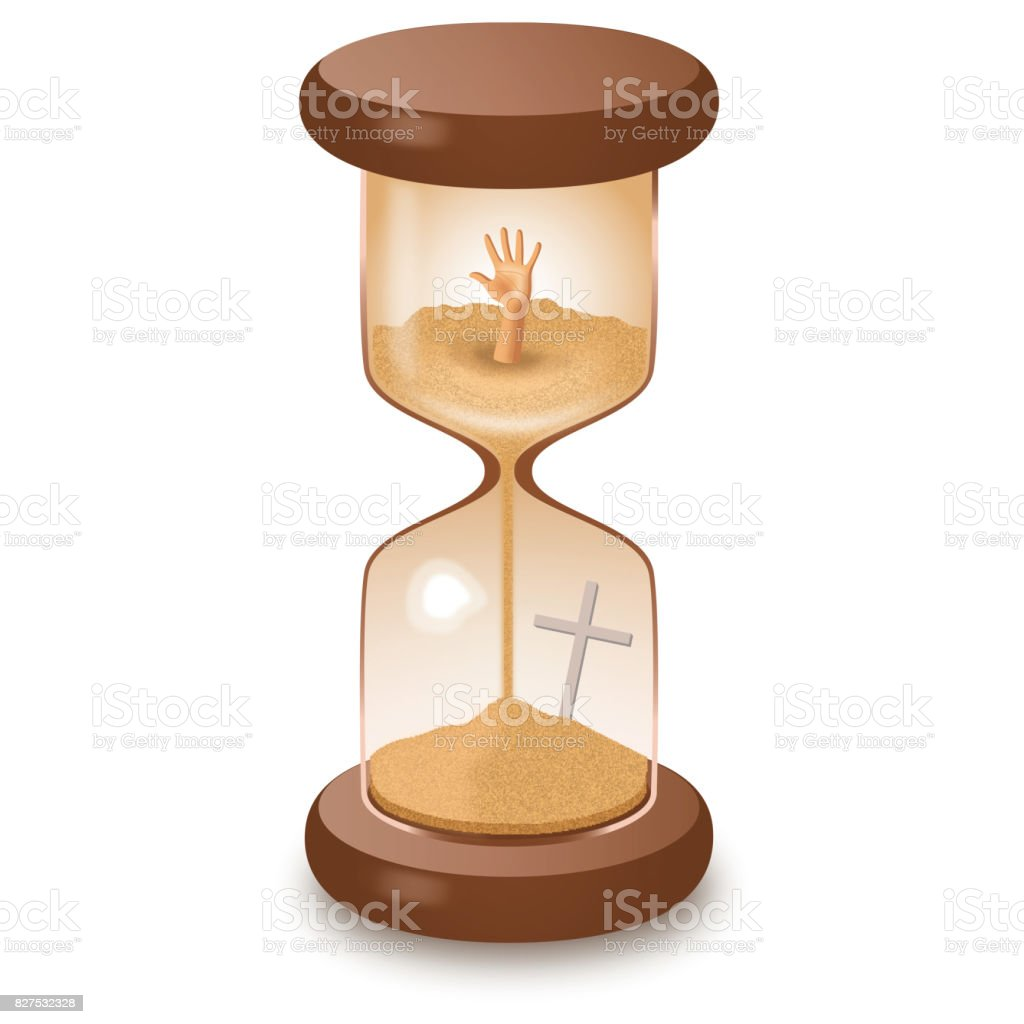 Hourglass sand glass leaking killing time vector illustration royalty-free stock photo