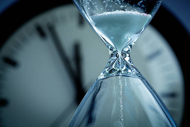 hourglass sands of time deadline - deadline stock pictures, royalty-free photos & images