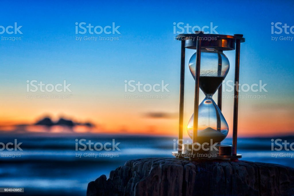 Hourglass Sunrise stock photo