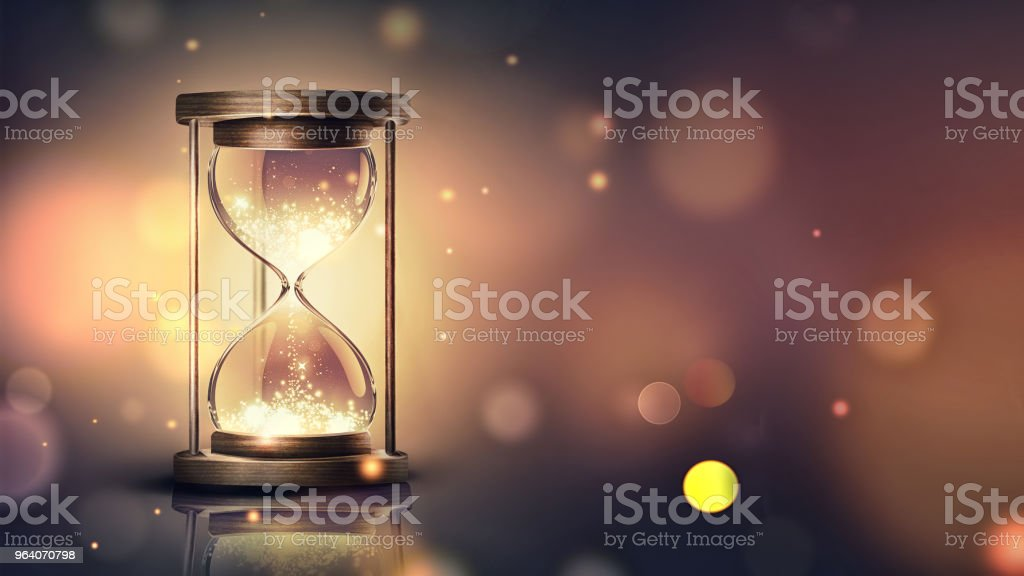 hourglass with shining light - Royalty-free Abstract Stock Photo