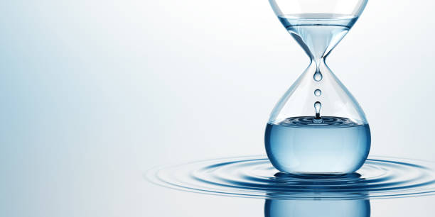 Hourglass mit Wasser – Foto