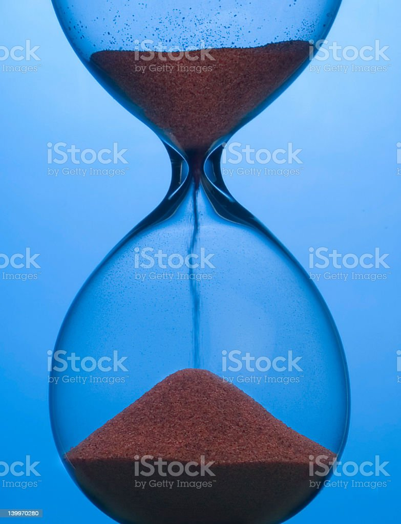 Hourglass-detail royalty-free stock photo