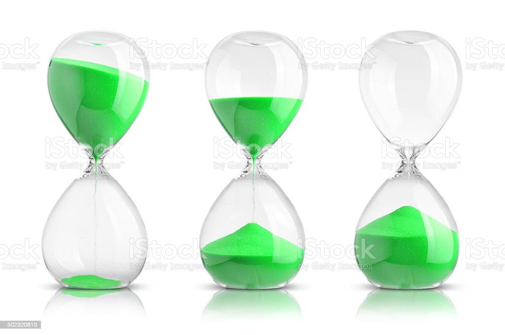 hourglasses stock photo