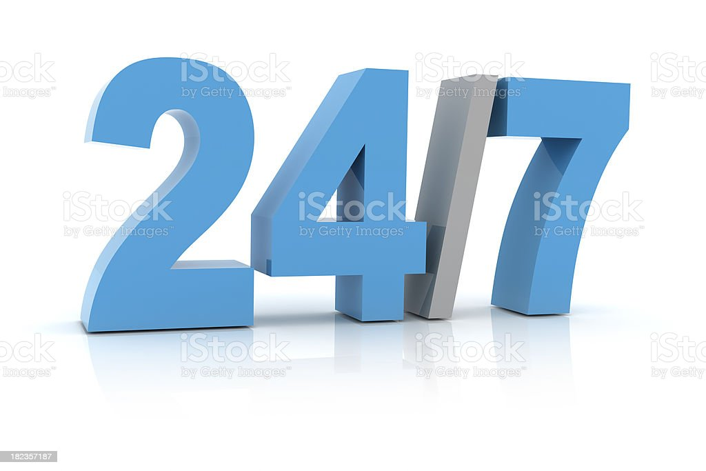 24 Hours 7 Days a Week royalty-free stock photo