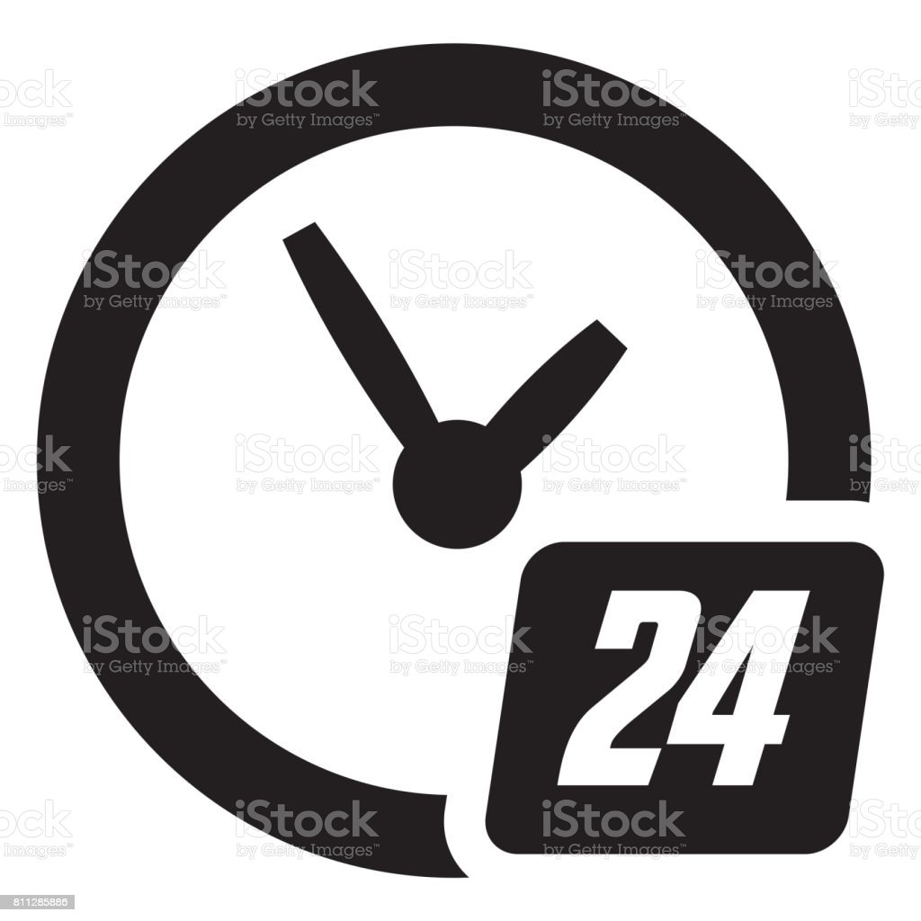 24 hours available stock photo