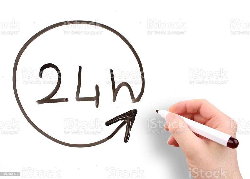 24 hours open stock photo
