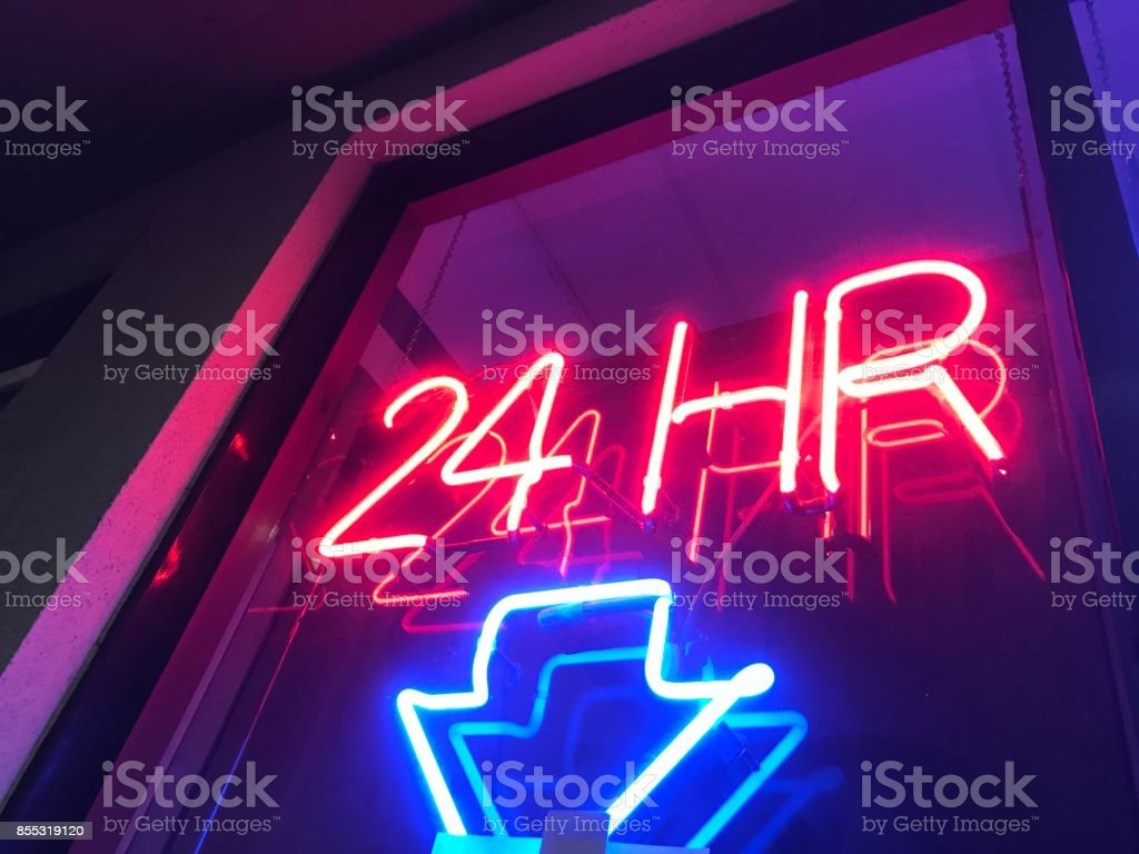 24 hours stock photo
