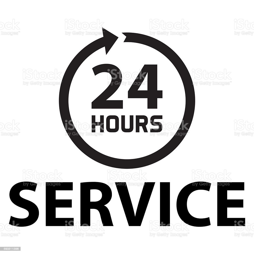 Hours service stock photo